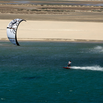Kite surfing in Leucate