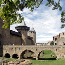 entrance to castle in Carcassonne