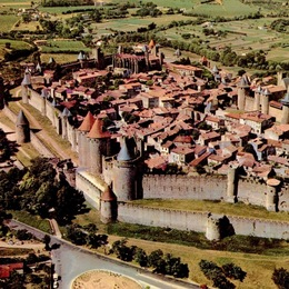 Carcassonne La Cité from the air