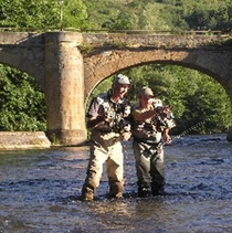 Fly fishing in the Aude river