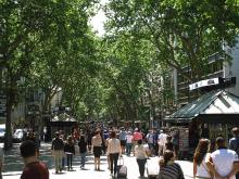 The Ramblas in Barcelona