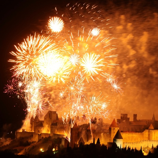 14th of July Fireworks Carcassonne