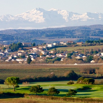 View on Golf Course and Pyrenees from our Terrace