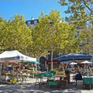 weekly market on Place Carnot, Carcassonne